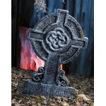 "Amscan 22"" Mossy Celtic Cross Tombstone"