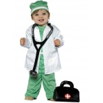 Future Doctor Child Costume: Green, 18-24 Months, Everyday, Male, Child