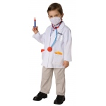 Doctor Child Costume Kit: White, One Size, Everyday, Male, Child