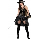 Beautiful Bandida Adult Costume: Black, Medium, Everyday, Female, Adult