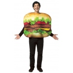 Cheeseburger Adult Costume: Multi-colored, One-Size, Everyday, Unisex, Adult