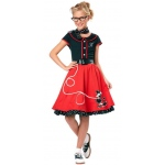 50's Sweetheart Child Costume - Medium (8-10)