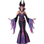 Dark Sorceress Adult Costume: Black/Purple, X-Large, Everyday, Female, Adult