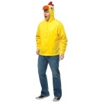 Chicken Hoodie Adult Costume: Yellow, Large/X-Large, Everyday, Unisex, Adult