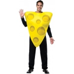 Cheese Adult Costume: Yellow, One-Size, Everyday, Unisex, Adult
