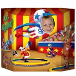 Circus Photo Prop: Multi-colored, Birthday