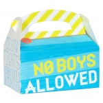 Birthday Express Girls Only Party Empty Favor Boxes Blue/Yellow