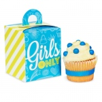 Birthday Express Girls Only Party Cupcake Boxes Blue/Yellow