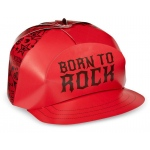 Birthday Express Born to Rock Trucker Hats Red/Black