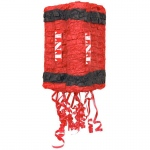 Secret Agent Pull-String Pinata: Red/Black, Birthday
