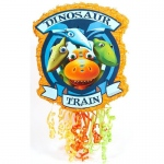 Dinosaur Train Pull-String Pinata: Multi-colored, Birthday