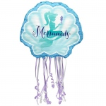 Mermaids Under the Sea Pull String Pinata: Birthday