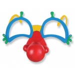 Clown Glasses with Nose: Multi-colored, Birthday
