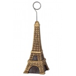 Eiffel Tower Balloon Weight / Photo Holder: Brown/Gold, Birthday