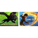 Hallmark How to Train Your Dragon 2 - Invitations & Thank You Postcard Combo