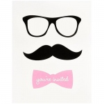 Birthday Express Pink Mustache Invitations (8)