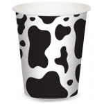 Cow Print 9 oz. Paper Cups (8): Birthday