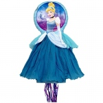 Disney Cinderella 3D Pull-String Pinata: Multi-colored, Birthday