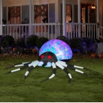 Black & White  Kaleidoscope Projection Spider Large Airblown: Black, Everyday, Unisex, Adult