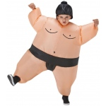 Sumo Inflatable Child Costume One-Size: Tan, One-Size, Everyday, Unisex, Child