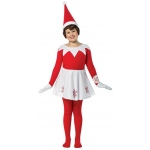 Elf on the Shelf Dress Child Costume One-Size: Red and White, One-Size, Everyday, Female, Child