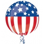 Patriotic Foil Balloon: Red/White/Blue, Birthday