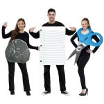 """Rock, Paper, Scissor Adult Costume "": White, One-Size, Everyday, Unisex, Adult"