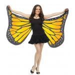 Fun World Orange Satin Butterfly Adult Wings One0Size