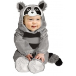 Baby Raccoon Infant Costume: Gray, 6-12 Months, Everyday, Unisex, Infant
