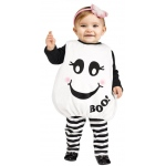 Baby Boo Toddler Costume: White, 0-24 Months, Everyday, Female, Toddler