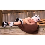 Cuddly Calf Infant Diaper Cover Set: White/Black, 0-3 Months, Everyday, Unisex, Infant