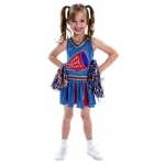 Cheerleader Child Costume: Red/Blue, Small, Everyday, Female, Child