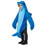 Dolphin Child Costume: Blue, One-Size, Everyday, Male, Child