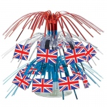 British Flag Mini Cascade Centerpiece: Multi-colored, Birthday