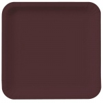 Creative Converting Chocolate Brown Square Dinner Plates