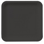 Creative Converting Black Velvet Square Dinner Plates