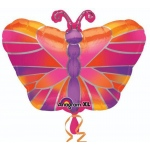 Butterfly Foil Balloon: Multi-colored, Birthday