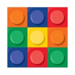 Creative Converting Building Block Party Beverage Napkins
