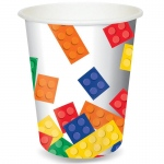 Creative Converting Building Block Party 9 oz. Paper Cups