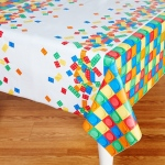 Creative Converting Building Block Party Plastic Tablecover