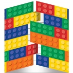 Creative Converting Building Block Party Invitations
