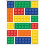 Creative Converting Building Block Party Stickers