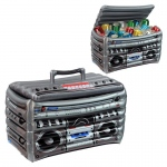 Inflatable Boom Box Cooler: Multi-colored, Birthday