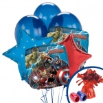 The Avengers Balloon Bouquet: Multi-colored, Birthday