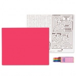 Hot Pink Activity Placemat Kit for 4: Hot Pink, Birthday