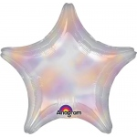 Iridescent Dazzler Star Foil Balloon: Birthday