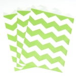 Creative Converting Fresh Lime Chevron Paper Treat Bags (10) Lime