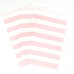 Creative Converting Classic Pink Striped Paper Treat Bags (15) Pink/White