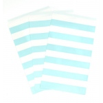 Creative Converting Pastel Blue Striped Paper Treat Bags (15) Light Blue