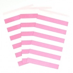 Creative Converting Candy Pink Striped Paper Treat Bags (15) Pink/White